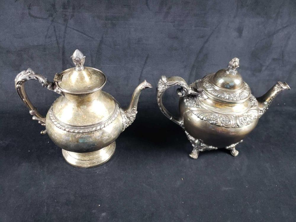 Lot 462: Two Silver Plated Teapots B