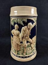 Lot 303: Vintage German Stoneware Handpainted Beer Stein