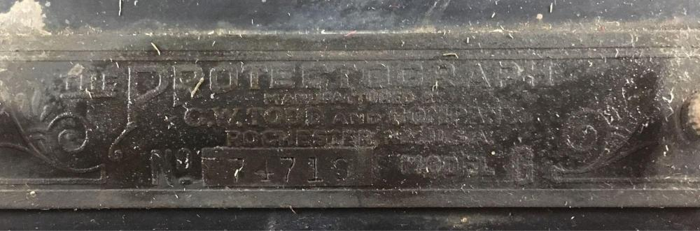 Lot 664: Antique Protectograph Check Protector by GW Todd and Co