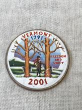 Lot 667: Unique Painted Collectible Coin Vermont