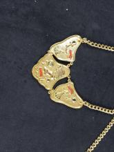 Lot 673: Lot of 4 Egyptian Style Disney World Crew Member Necklaces