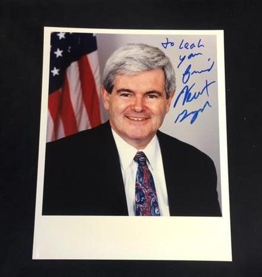 Lot 680: Speaker Newt Gingrich Inscribed Photo with Autograph