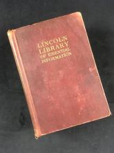 Lot 683: Vintage Lincoln Library Of Essential Information 1926 Edition