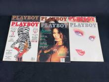 Lot 687: Eight 1988 Playboy Magazines