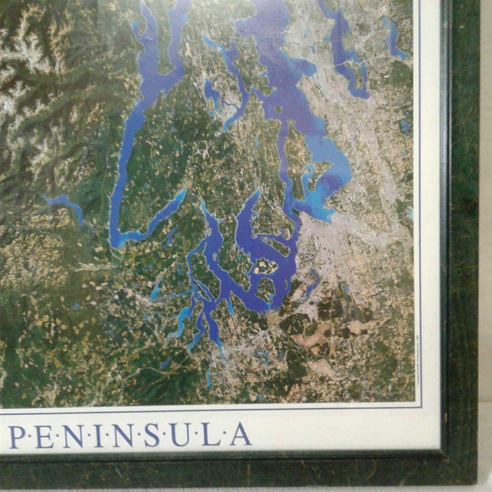 "Lot 686: Photo Print of ""The Olympic Peninsula"", Framed"