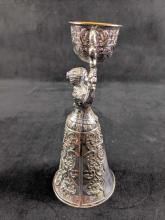 Lot 689: Noble Mistress German Pewter Wedding Cup