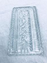Lot 690: Vintage Pressed Glass Relish/Appetizer Tray