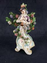 Lot 694: French Porcelain Bugler Figurine