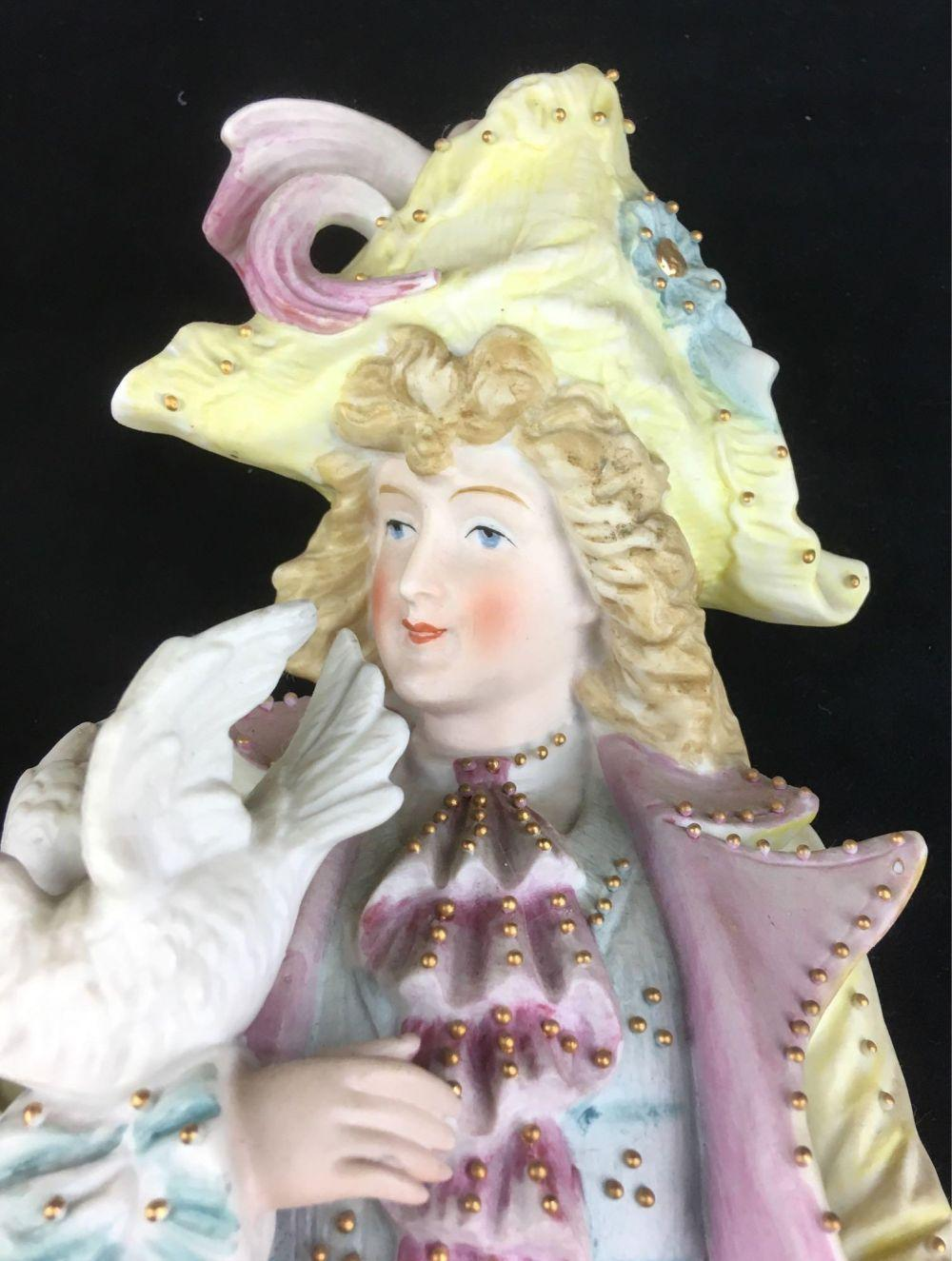Lot 697: Vintage Bisque Courting Figurines