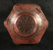 Lot 698: Rose Depression Glass Rose Bowl