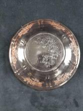 Lot 704: Set of 3 Etched Glass Items