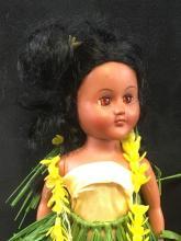 Lot 720: 2 Vintage Hard Plastic Hawaiian Doll Set