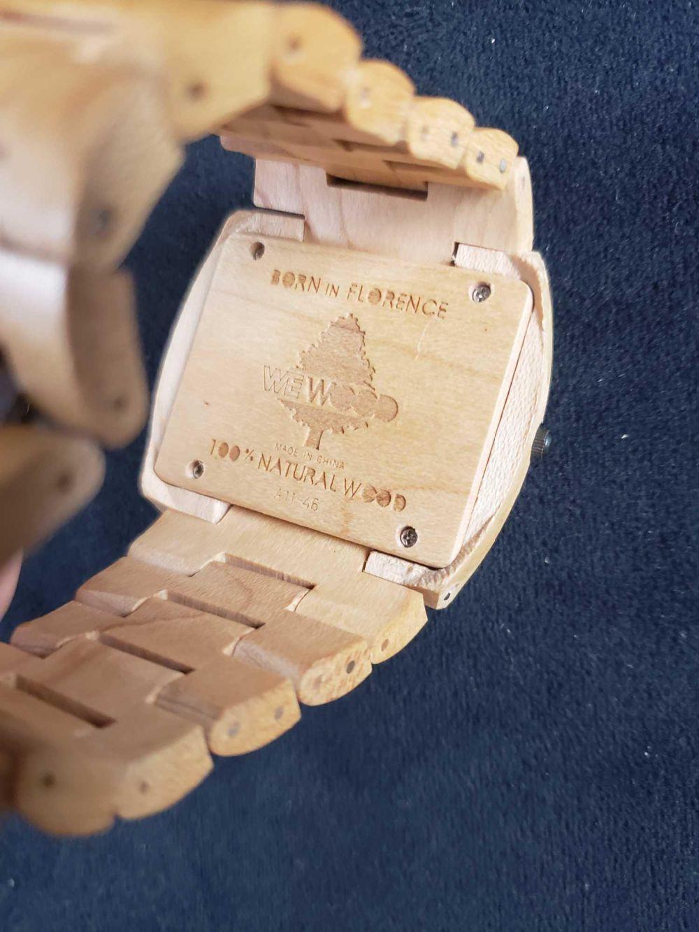 Lot 727: We Wood 100 Percent Natural Wood Watch