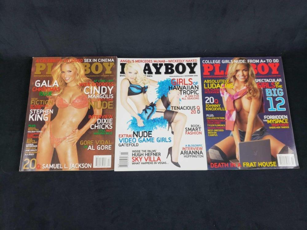 Lot 735: Twelve 2006 Playboy Magazines