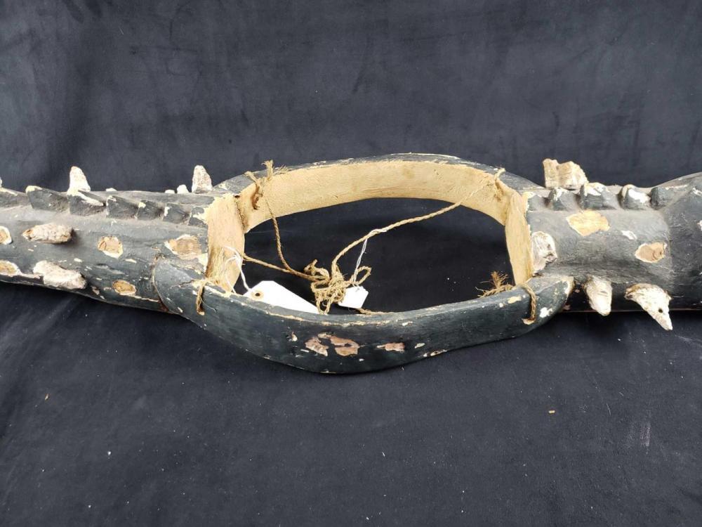 Lot 749: Folk Art Carved Alligator