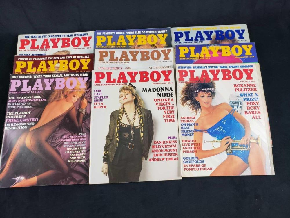 Lot 747: Eleven 1985 Playboy Magazines