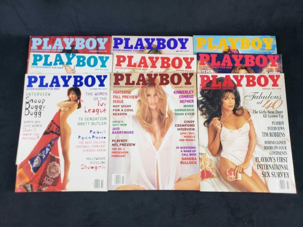 Lot 752: Eleven 1995 Playboy Magazines