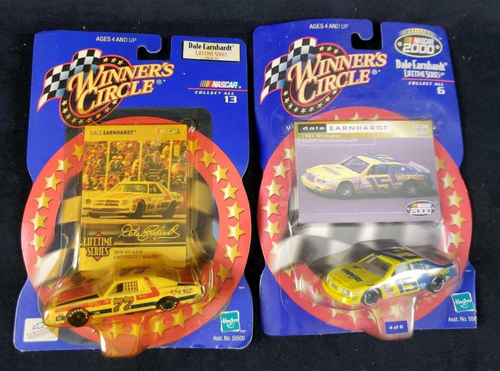 Lot 756: Lot of 2 Winners Circle Dale Earnhardt Numbers 15 and 77 Cars