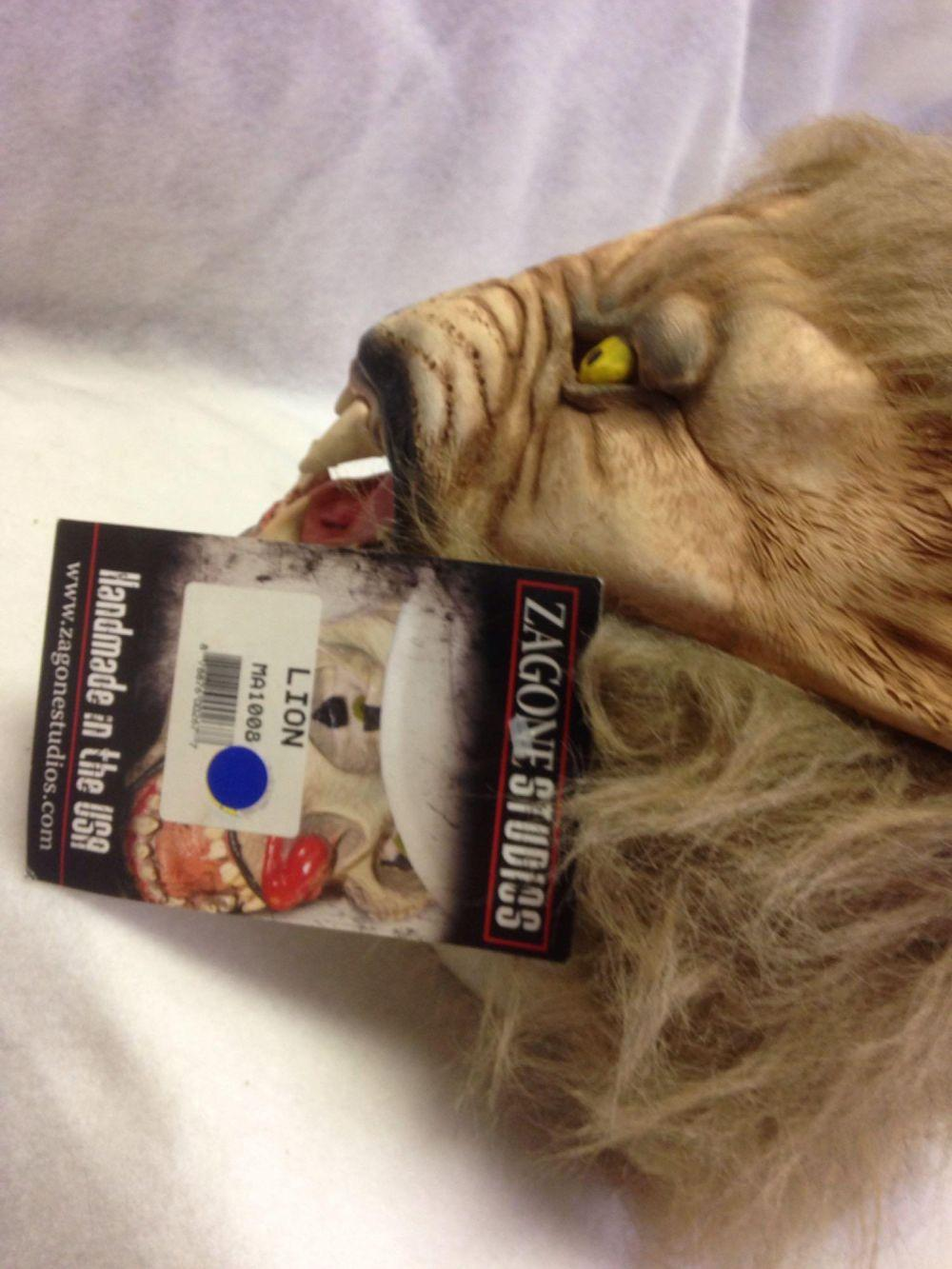 Lot 758: NOS-latex Halloween Mask-LION