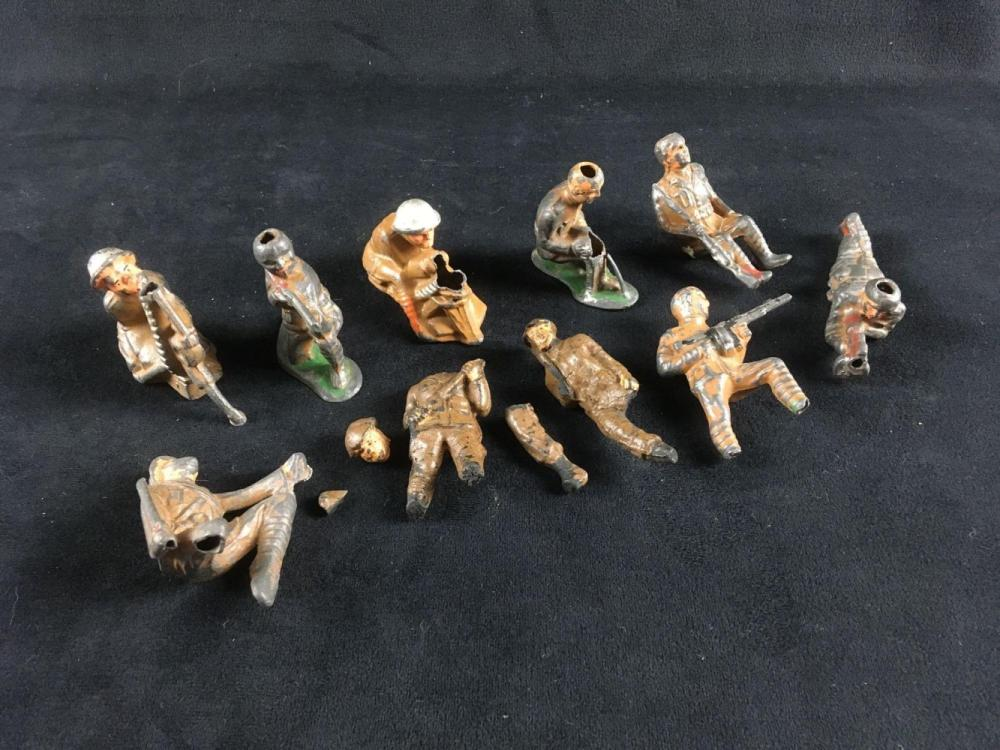 Lot 760: 10 Vintage WW I Toy Soldiers
