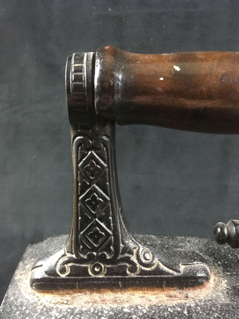 Lot 778: Cast Iron Charcoal Iron