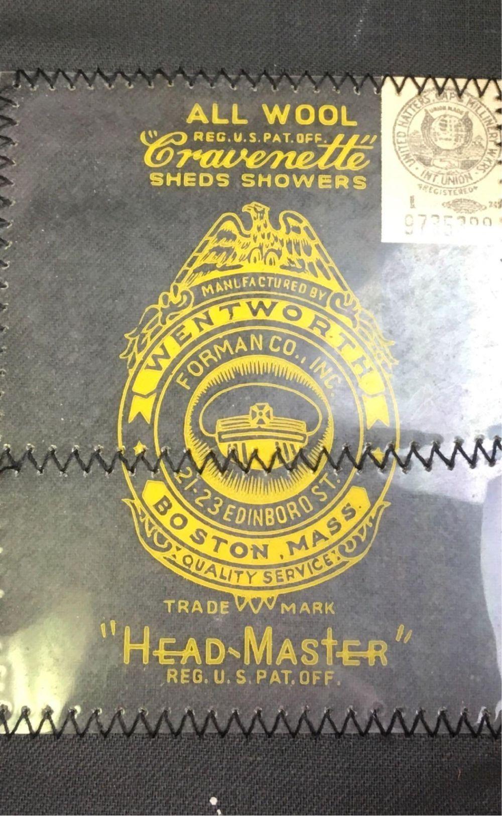 Lot 779: Vintage Wentworth Head Master Model Fireman's Cap