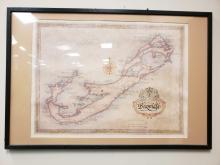 Lot 798: J. Longacre Bermuda Framed Map