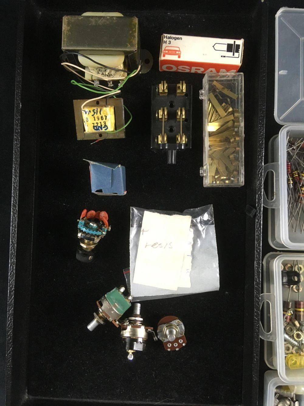 Lot 799: Large Lot of Transistors Capacitor Connectors Transformers Switches