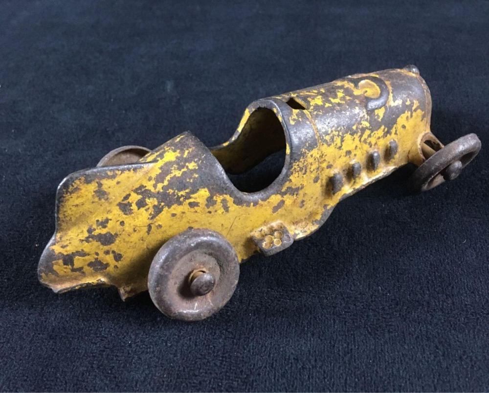 Lot 801: Vintage HubleyCast Iron Toy Race Car 1791 Circa 1930