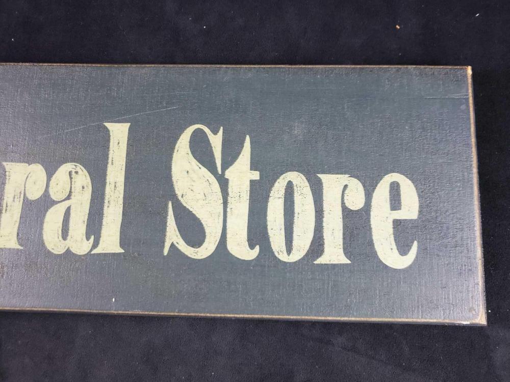Lot 804: Vintage General Store Sign