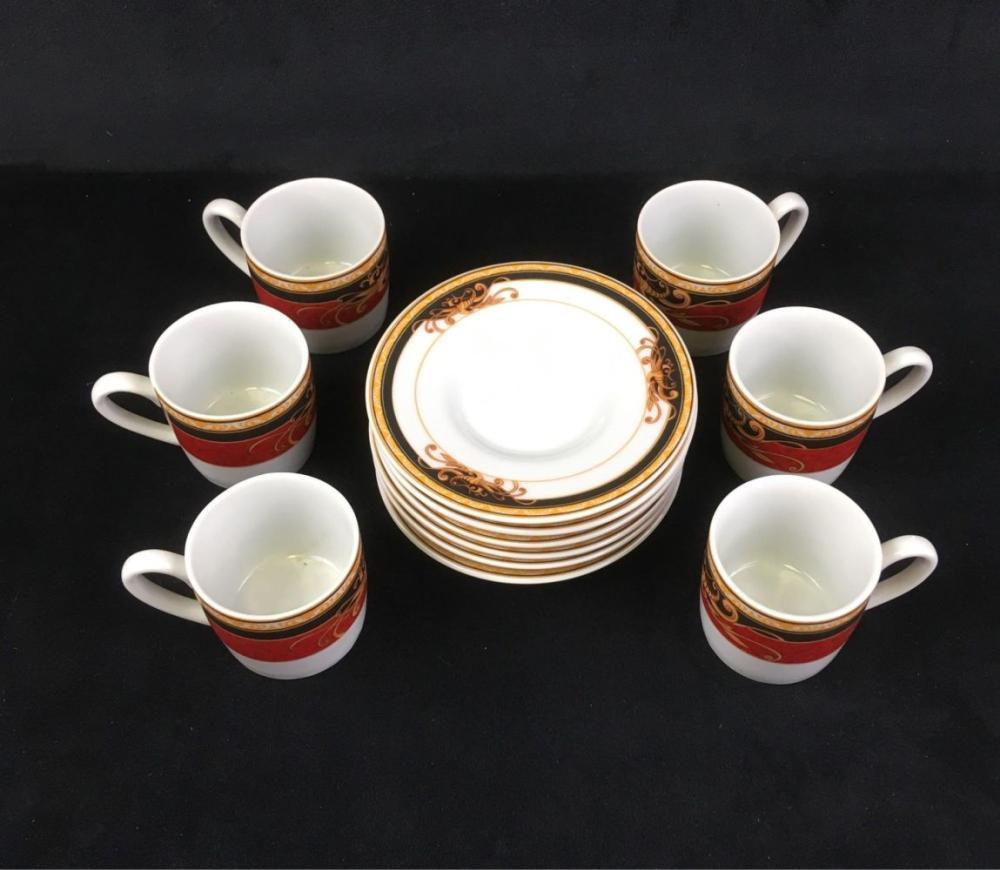 Lot 812: Aiglon Set of Six Espresso Cups and Saucers