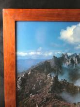 Lot 817: Ben Franklin Crafts Framed Mountain Photograph Print