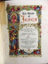 Lot 820: Vintage Religion Books Including The Words of Jesus and Love Unlimited