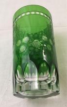 Lot 827: Vintage Colored Crystal Highball Glass Set