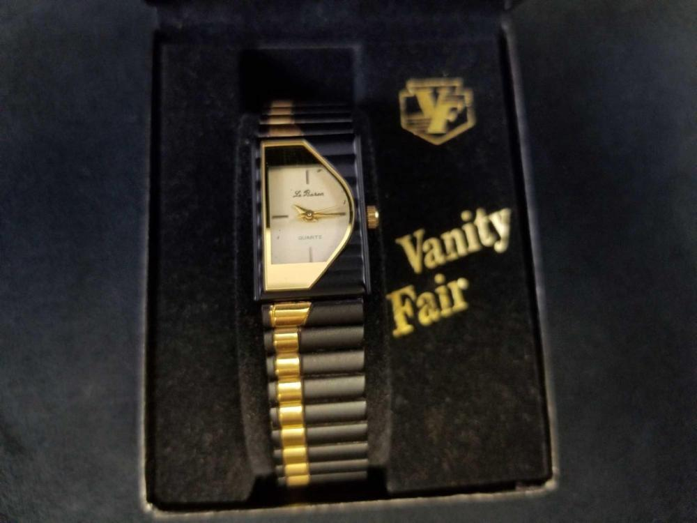 Lot 830: Vintage Le Baron Gold Stainless Steel Ladies Watch