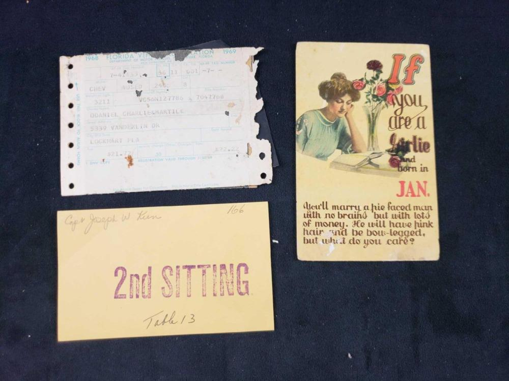 Lot 832: Lot of Assorted 1900s Documents