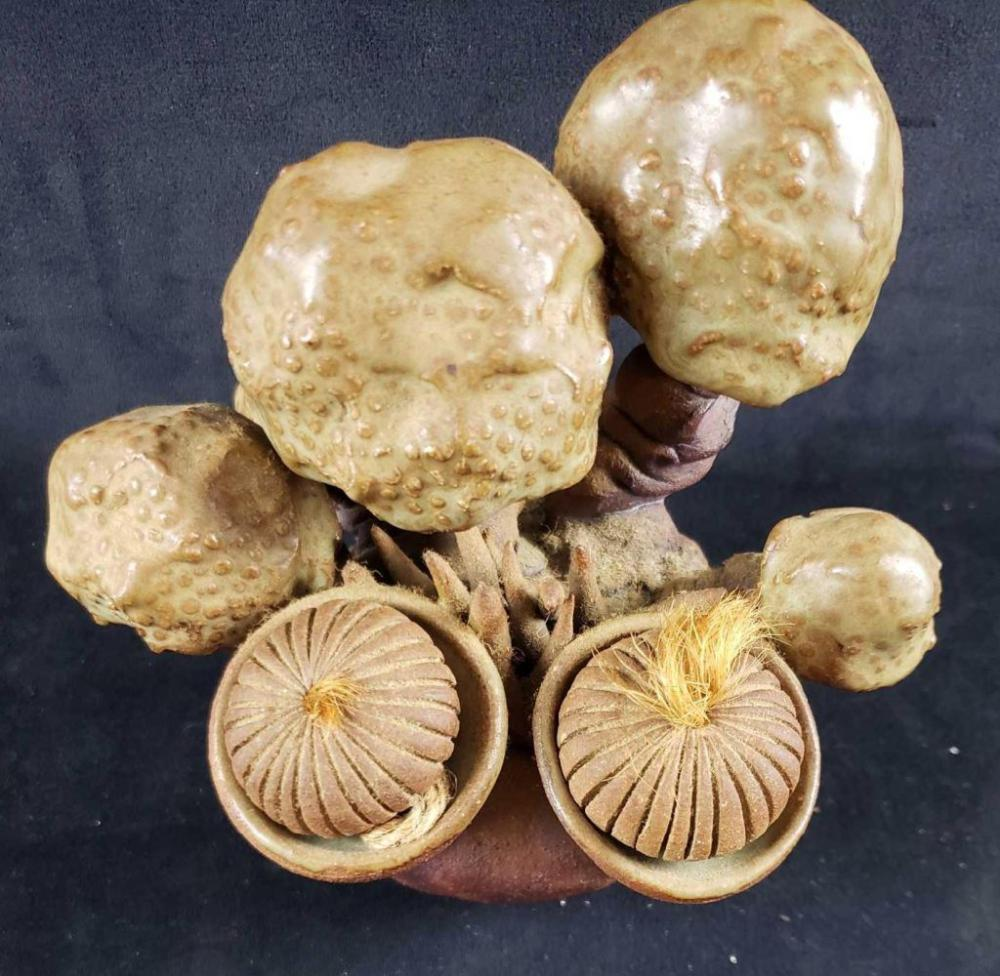 Lot 835: Ceramic Mushroom Sculpture