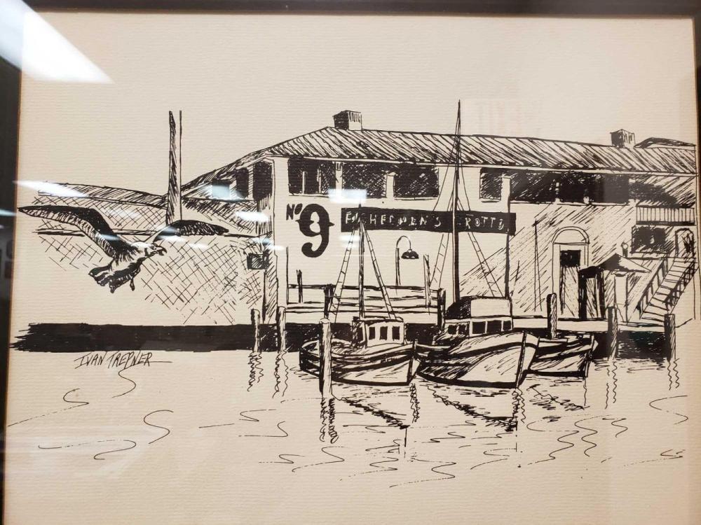 Lot 837: Ivan Trepner Fishermans Grotto Framed Print