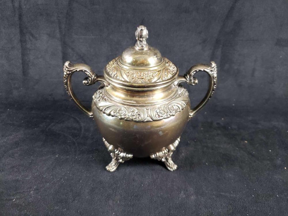 Lot 478: Heritage Silver Plate Sugar Bowl