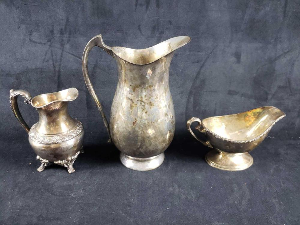 Lot 479: 3 Silver Plated Pieces