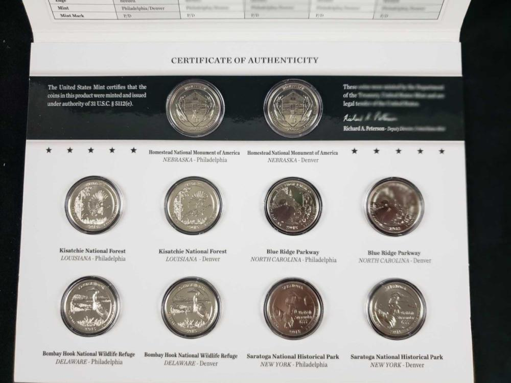 Lot 484: Lot of 4 America The Beautiful Uncirculated Coin Sets 2011 2015 2016 2017