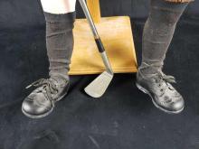 Lot 486: Dutch Harrison Golfing Old Man Doll