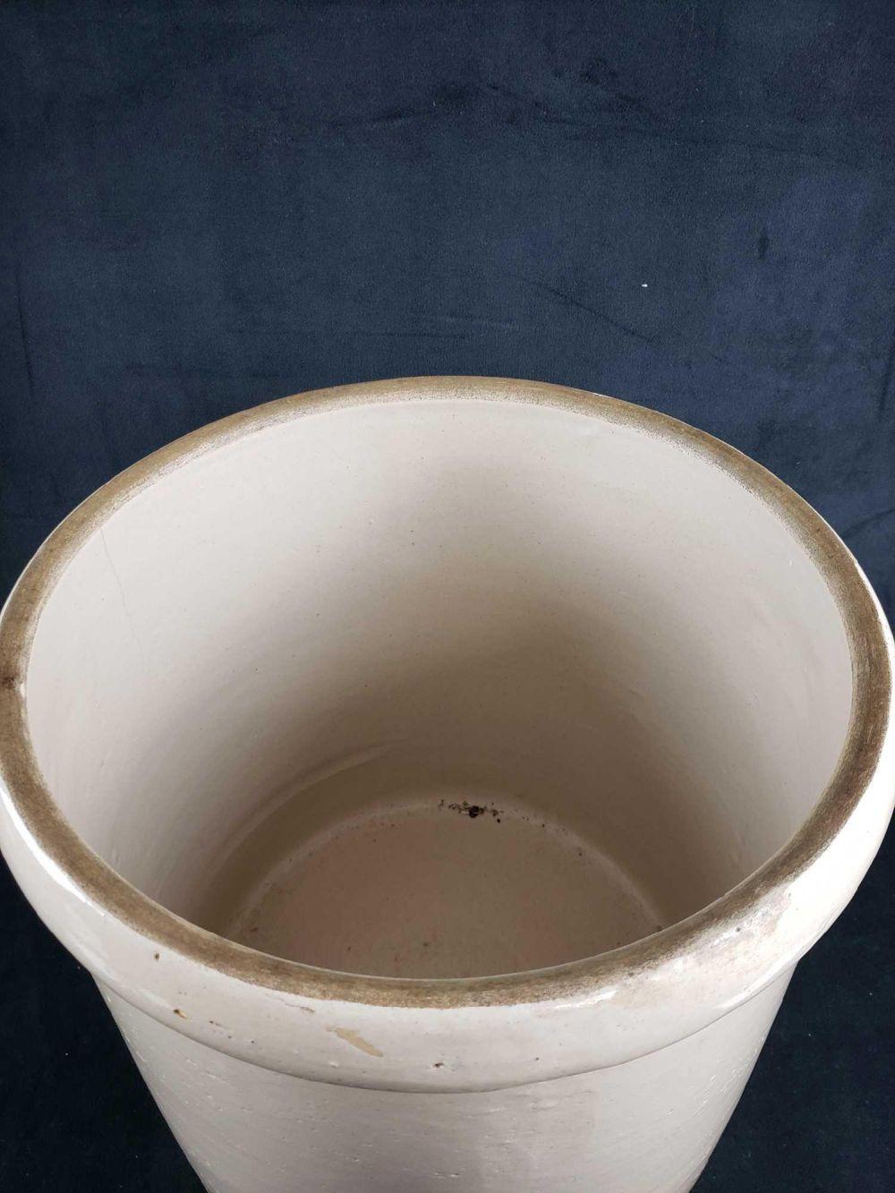 Lot 493: 5 Gallon Salt Glaze Handled Stoneware Pot