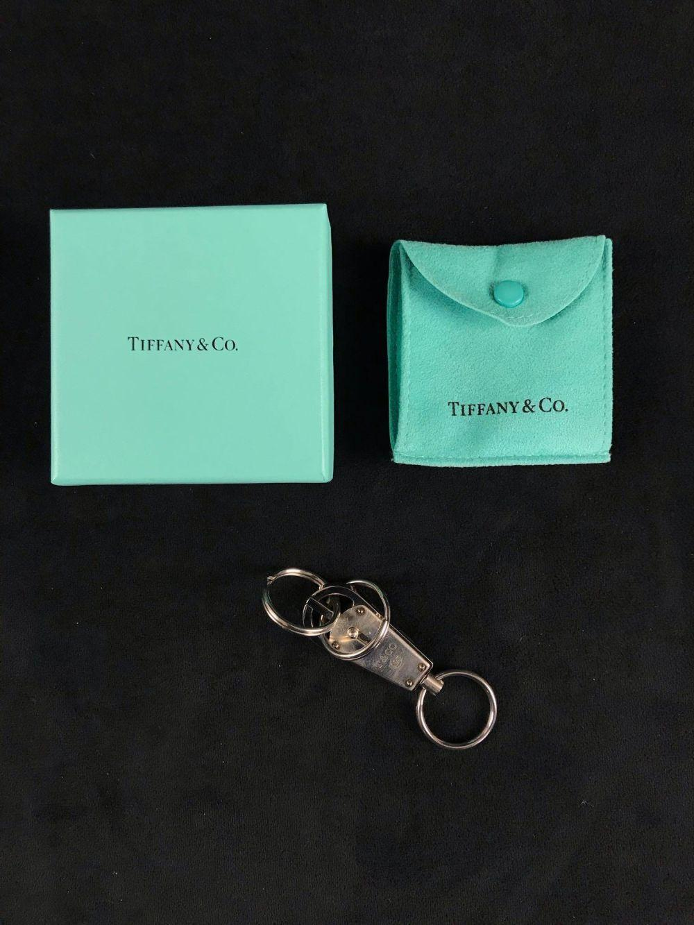 Lot 496: Vintage Tiffany and Co Sterling Silver Key Chain