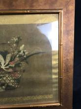 Lot 501: Iridescent Hand Painted Still Life Painting