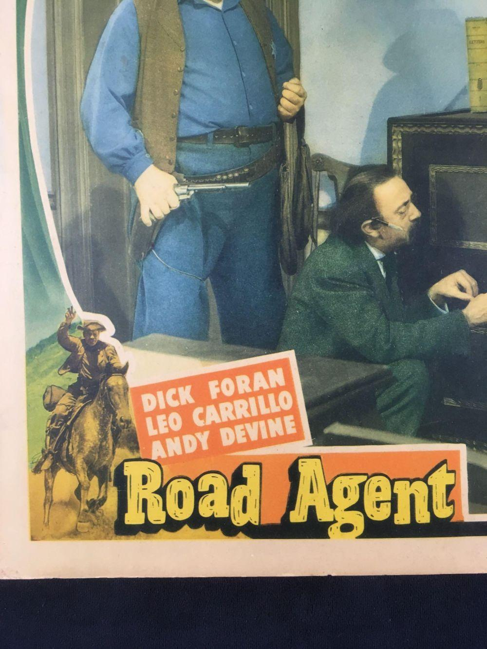Lot 506: Set of 2 Road Agent Promotional Posters