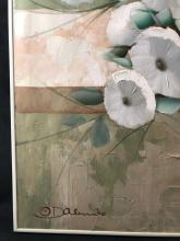 Lot 507: Nidia D'Alessandro Flower Oil Painting
