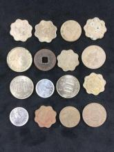 Lot 515: Lot of 16 Vintage Asian Coins
