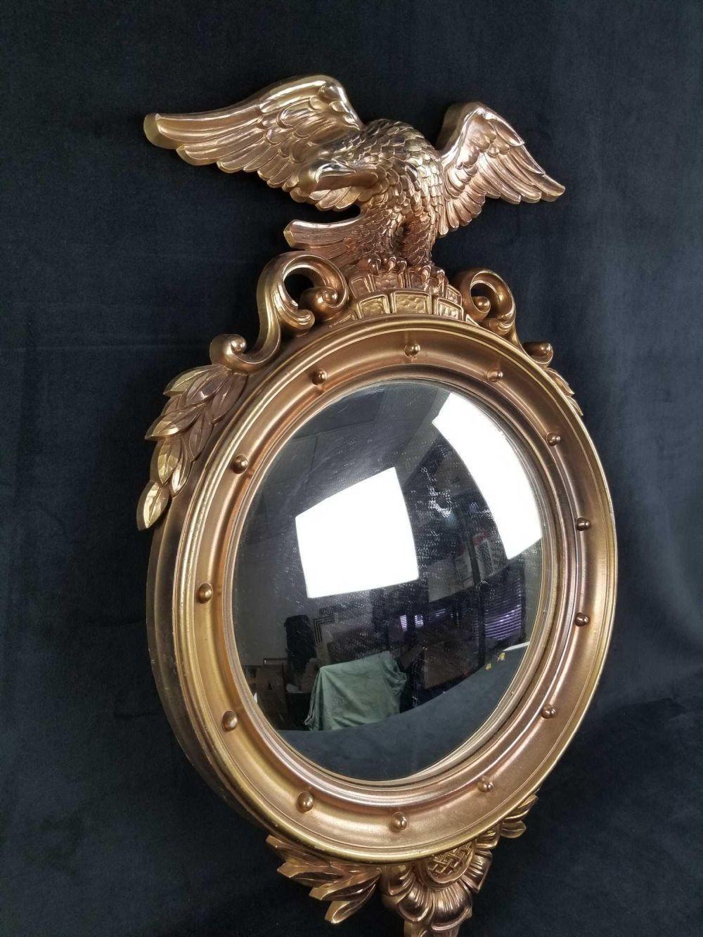 Lot 520: SYROCO Federal Eagle Convex Mirror