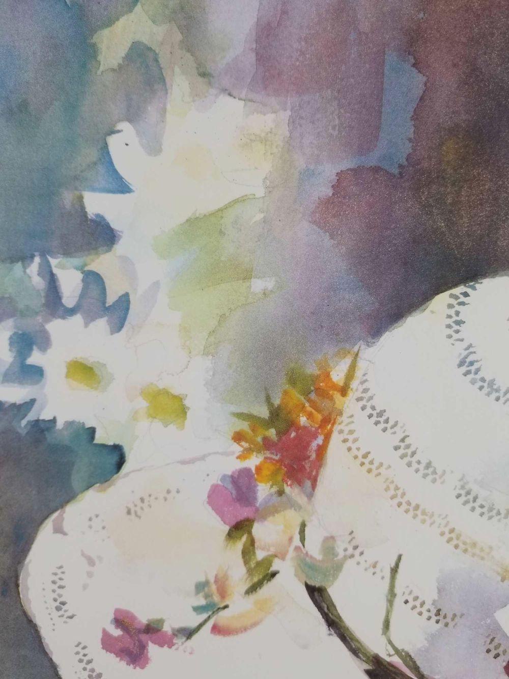 Lot 522: Fine Art Print of Original Watercolor by Judy Bolton Jarrett Signed